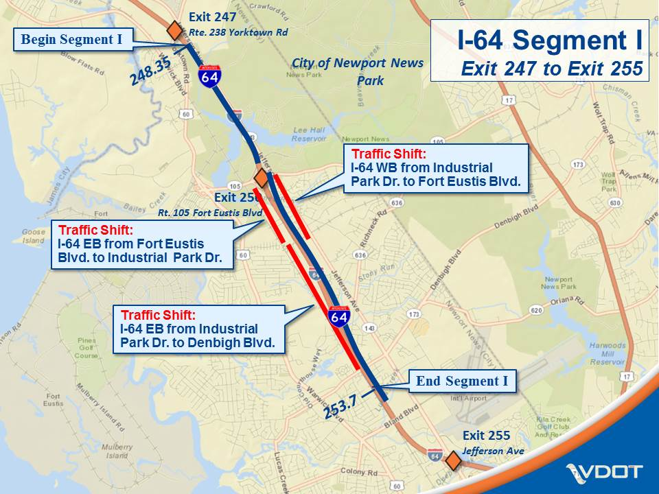 I-64 Widening Segment I Traffic Shifts